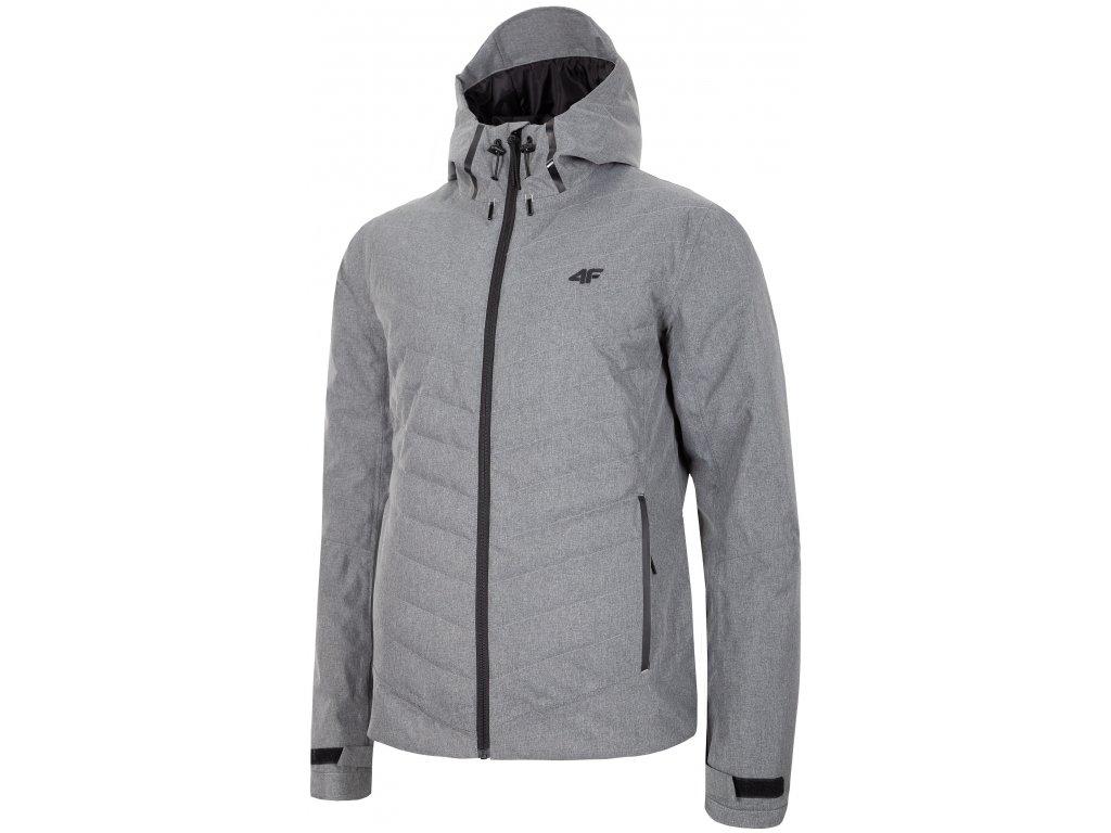 Pánská bunda 4F KUM005 Cold l.grey šedá