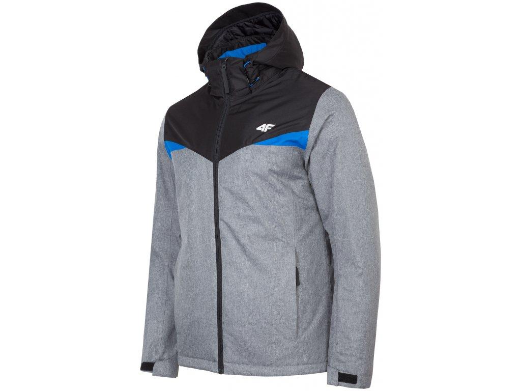 Pánská lyžařská bunda 4F KUMN071 Grey mel. šedá