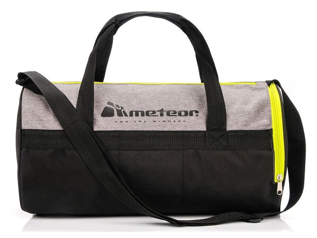 Sportovní taška Meteor 74554 szary mel/zielony