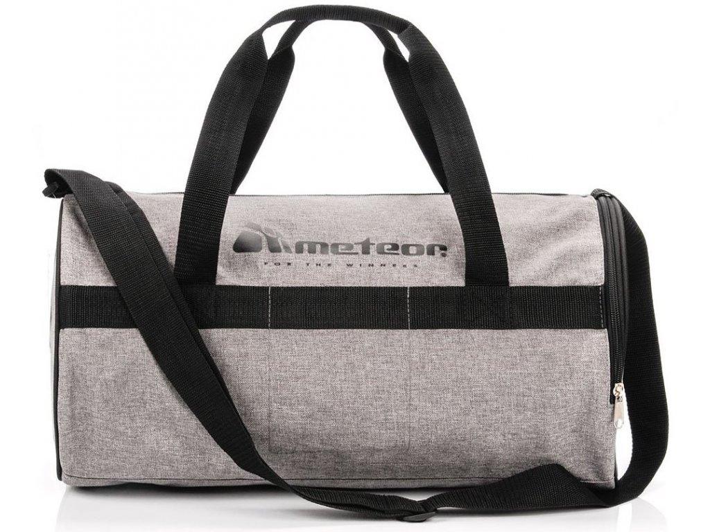 Sportovní taška Meteor 74555 szary mel/czarny šedá