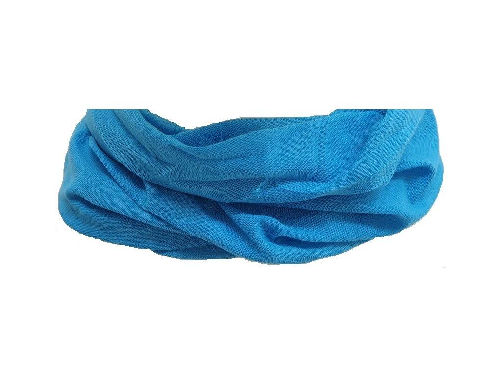 Multifunkční šátek Outhorn BANU001X Turkus modrá