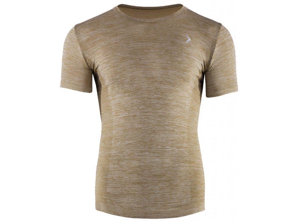 Pánské funkční tričko Outhorn TSMF621 Khaki melange Khaki