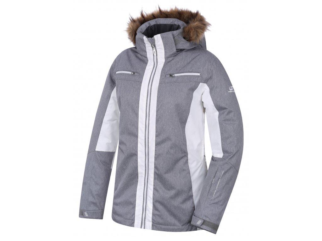 Dámská bunda Hannah JILL frost mel/bright white šedá