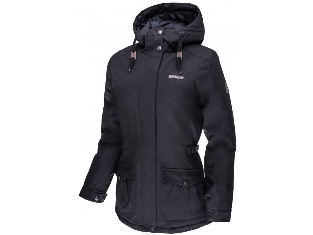 Dámská zimní bunda ERCO ALASIA NEW BLK černá