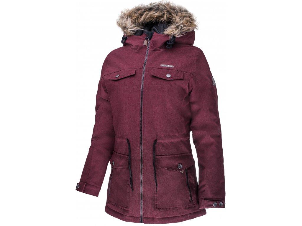 Dámská zimní bunda ERCO DARONIA RDW červená