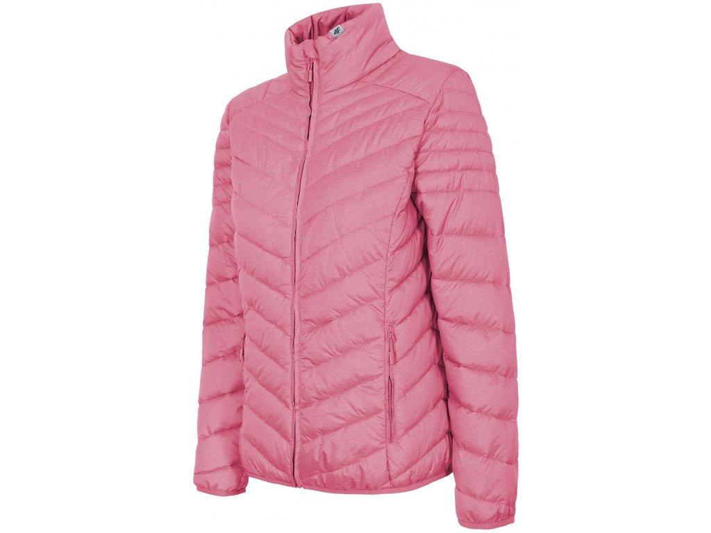 Dámská bunda 4F KUD210 Pink mel. 54M růžová