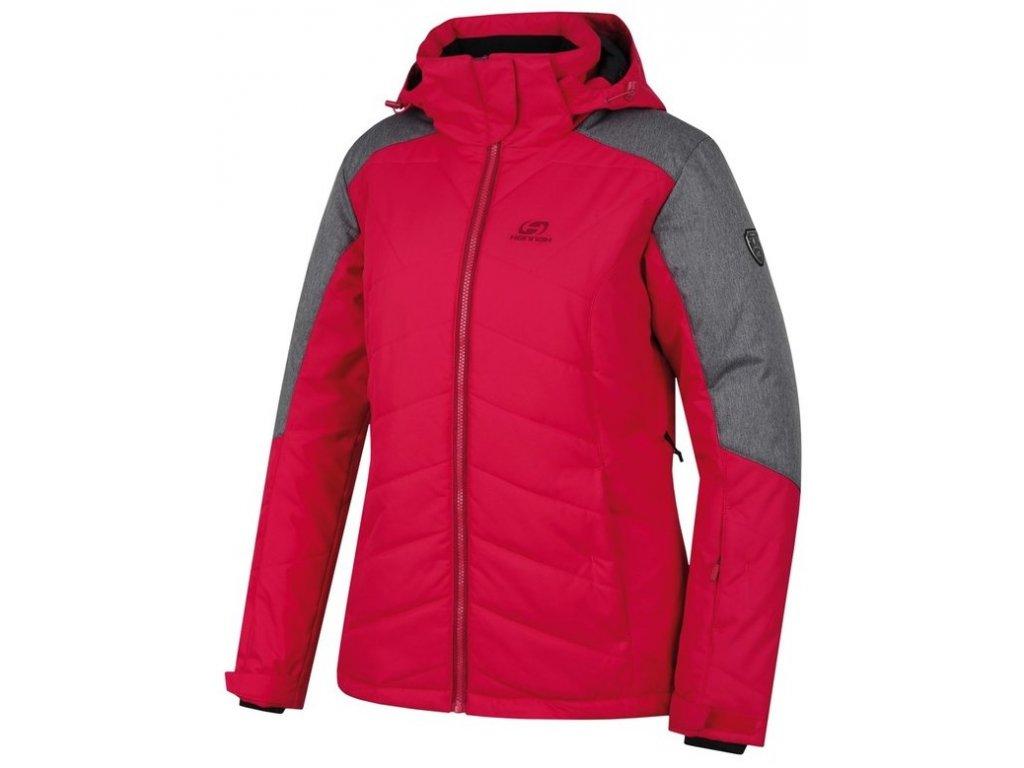 Dámská bunda Hannah NANETT Jazzy/gray mel. červená