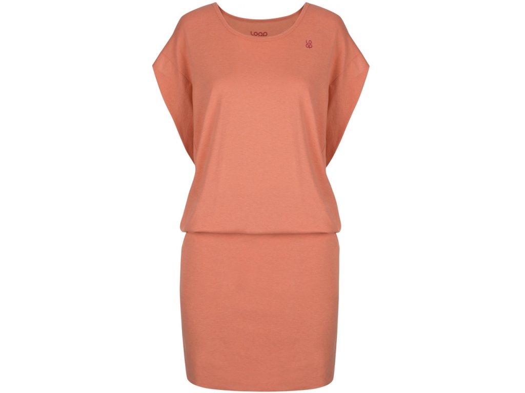 Dámské šaty Loap ASITA E36J oranžová