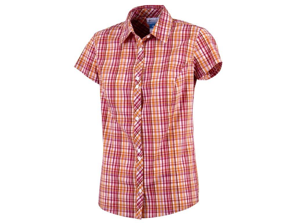 Dámská košile Columbia Diamond Lake ™ Short Sleeve Shirt Zing Plaid oranžová