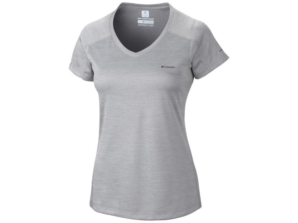 Dámské funkční tričko Columbia Zero Rules™ Short Sleeve Shirt 039 šedá