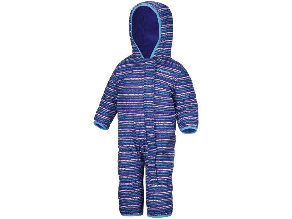 Dětská zimní kombinéza Columbia Snuggly Bunny Bunting 547 - Light grape stripe modrá