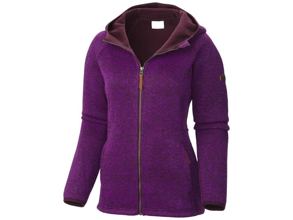 Dámský svetr Columbia CANYONS BEND™ FZ HOODIE 562 - purple dahlia fialová