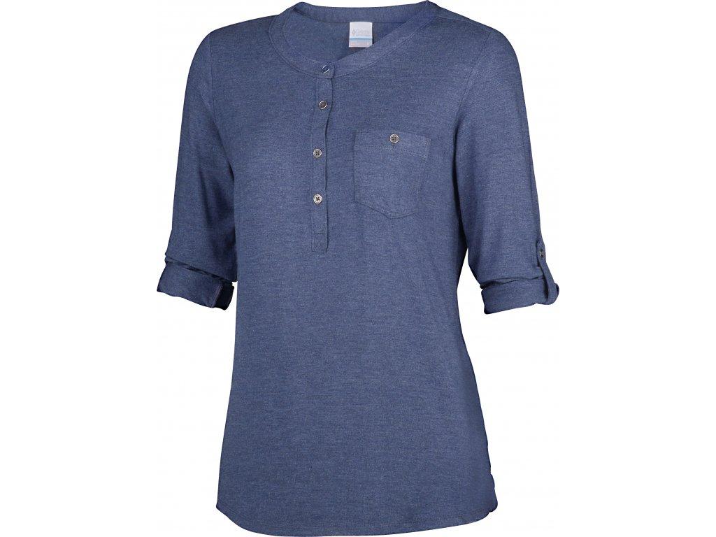 Dámské tričko Columbia SPRING DRIFTER 419 - india ink Modrá