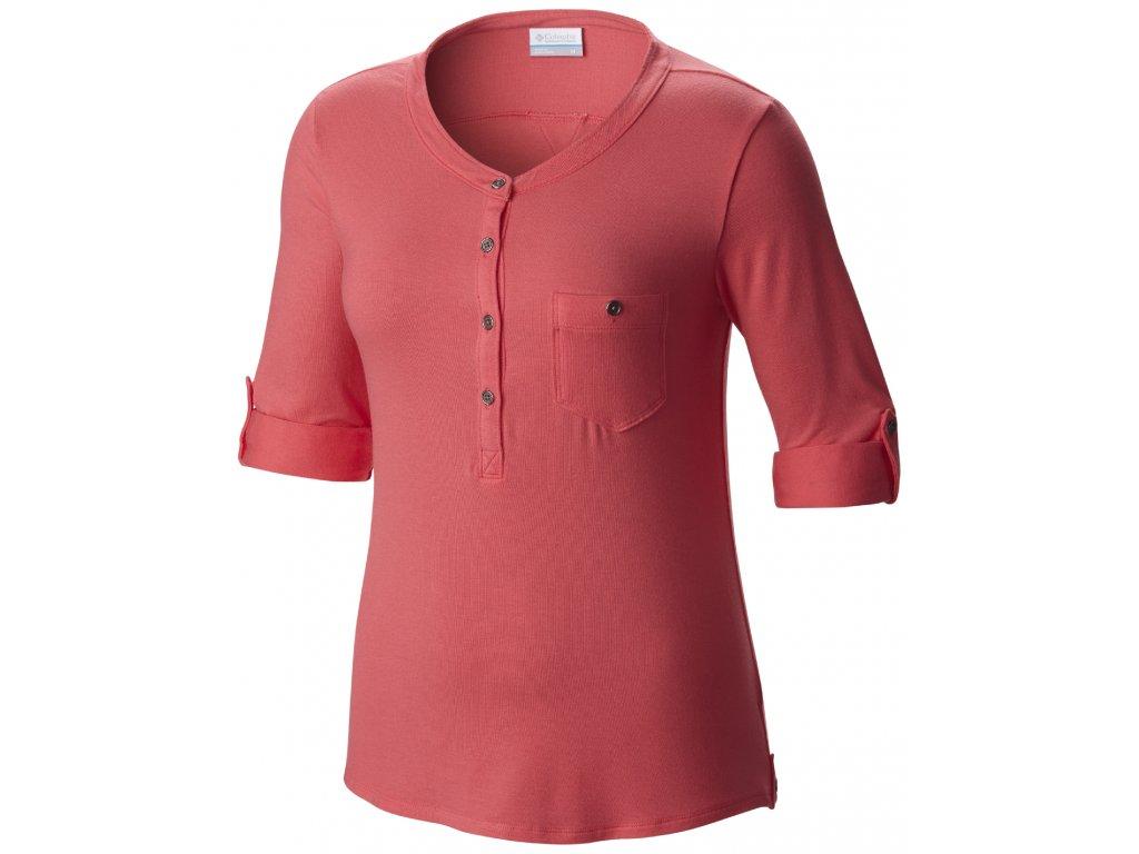 Dámské tričko Columbia SPRING DRIFTER 673 - bright geranium červená
