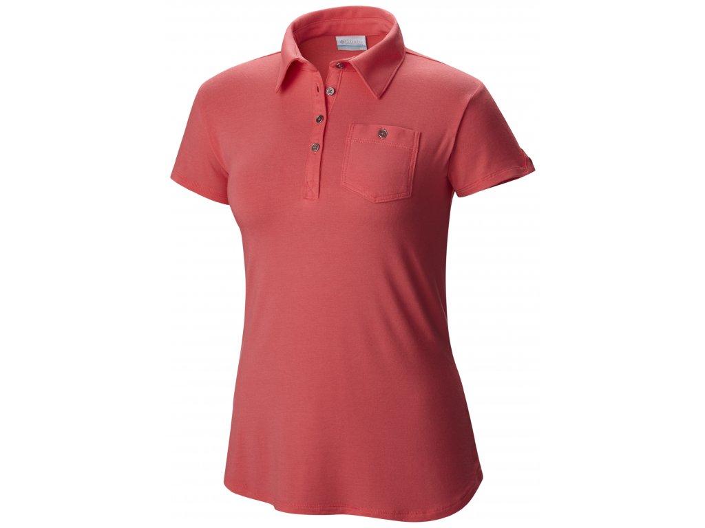 Dámské polo tričko Columbia Spring Drifter ™ Polo 673 - bright geranium červená