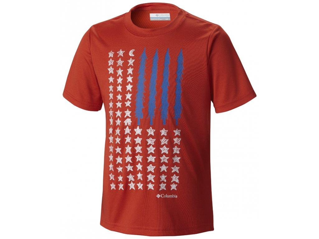 Chlapecké tričko Columbia Camp Americana 845 Super sonic červená