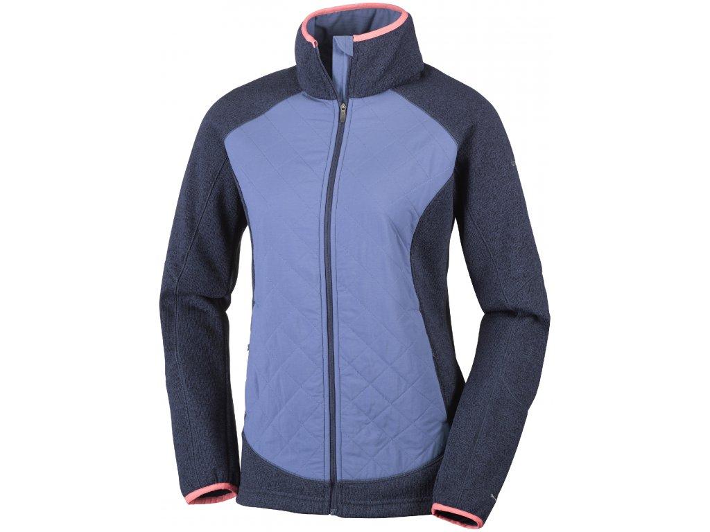 Dámská bunda Columbia Altitude Aspect ™ Hybrid Fleece 591 Nocturnal fialová