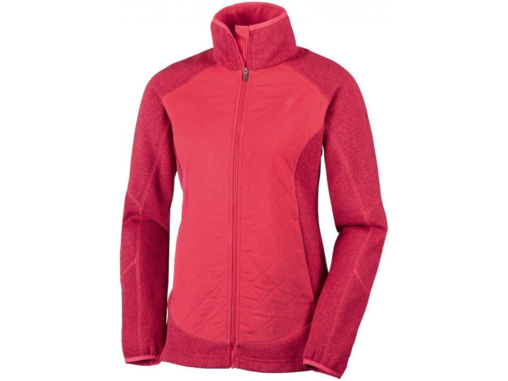 Dámská bunda Columbia Altitude Aspect ™ Hybrid Fleece 653 Red camellia červená