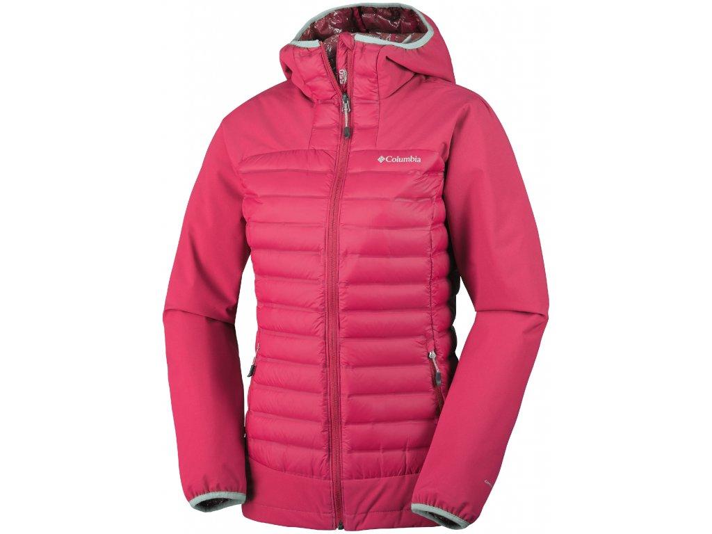 Dámská zimní bunda Columbia Dutch Hollow ™ Hybrid Jacket 653 Red camellia růžová