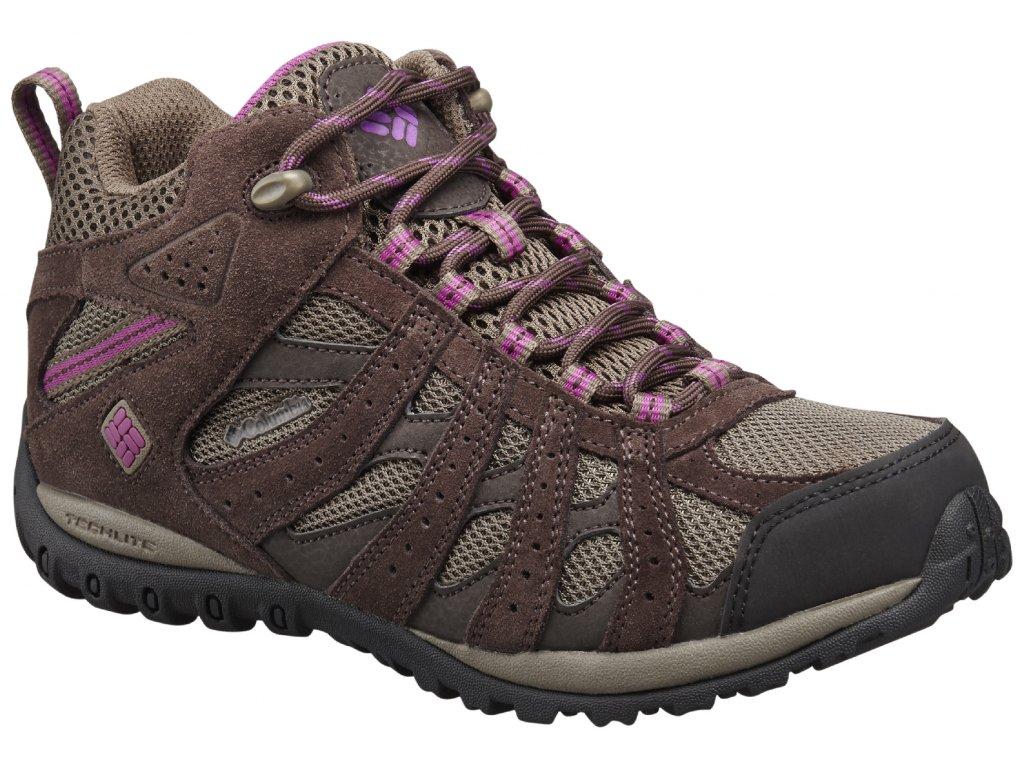 Dámské boty Columbia REDMOND MID WP 256 Mud, Intense violet hnědá