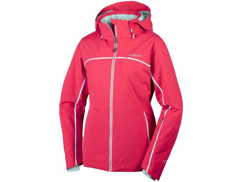 Dámská zimní bunda Columbia Millenium Blur ™ Jacket 653 Red camellia červená