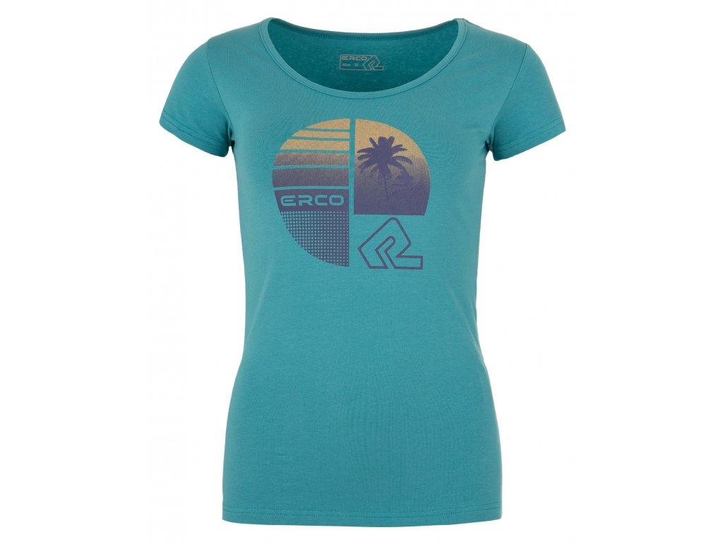 Dámské tričko ERCO HOLLIDAY-L TRQ modrá