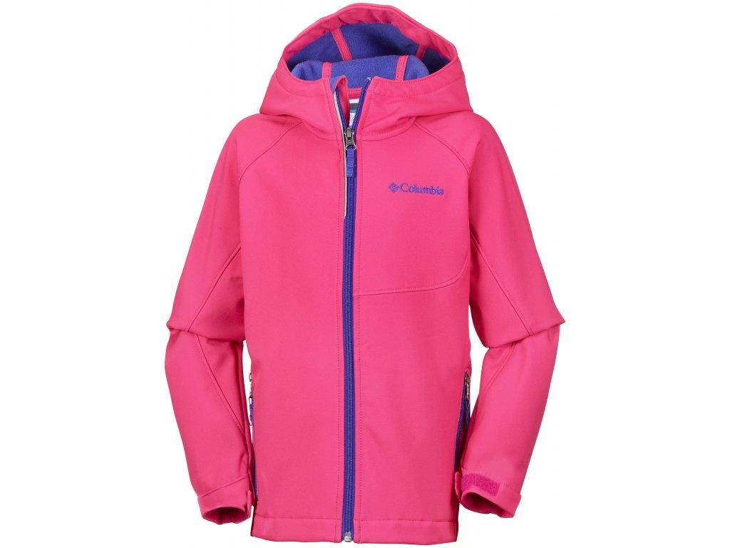 Juniorská softshellová bunda Columbia Cascade Ridge ™ Softshell 637 růžová