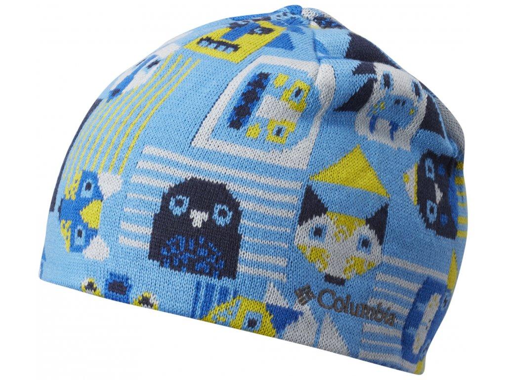 Dětská oboustranná čepice Columbia Toddler/Youth Urbanization Mix™ Beanie 480-Peninsula Dritt modrá