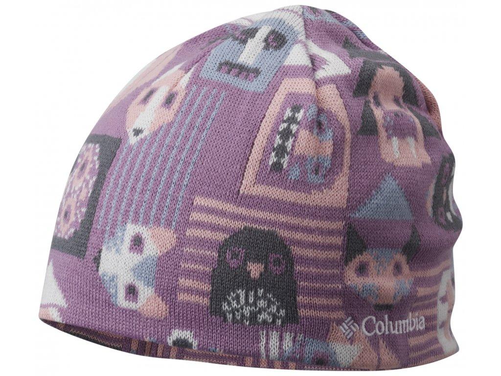 Dětská oboustranná čepice Columbia Toddler/Youth Urbanization Mix™ Beanie 542-Violet haze