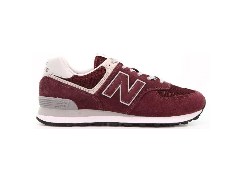 Pánská lifestylová obuv New Balance ML574 EGB červená