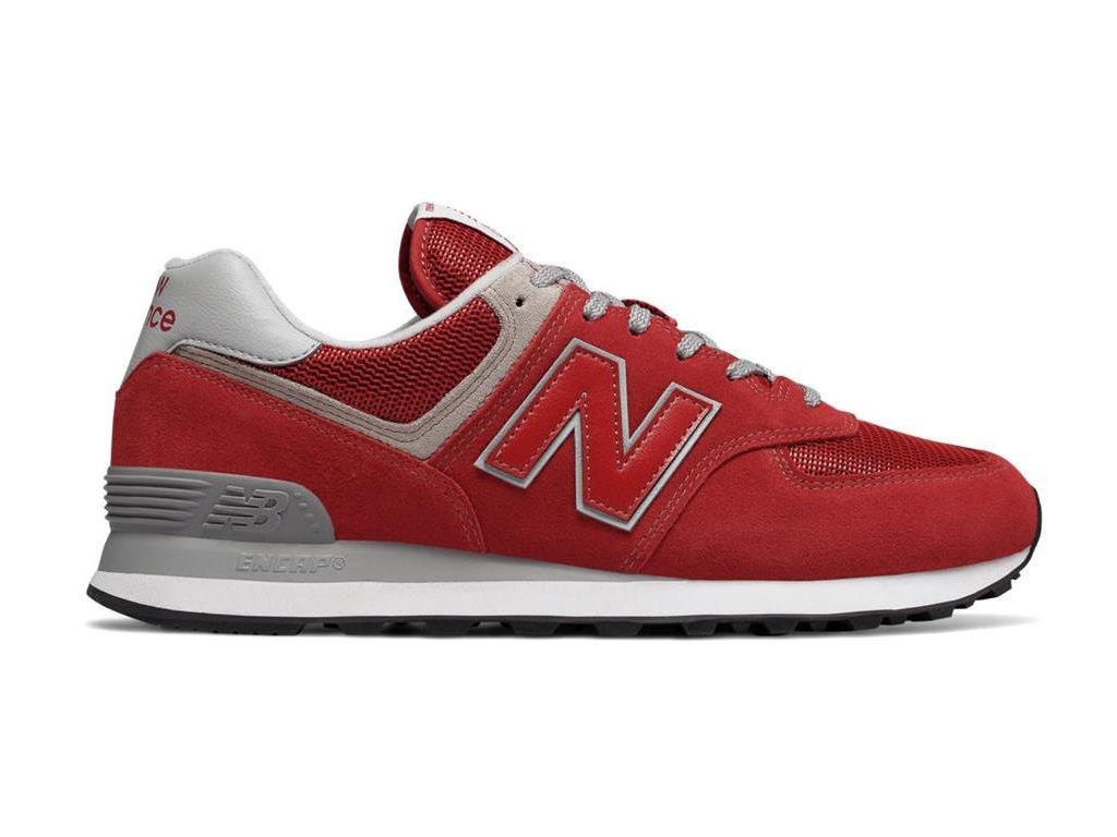 Pánská lifestylová obuv New Balance ML574 ERD červená
