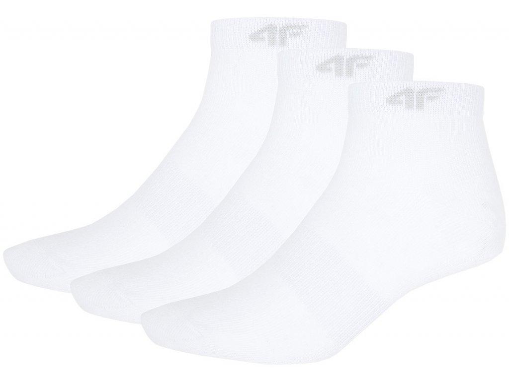 Ponožky 4F SOD001 White/white/white bílá