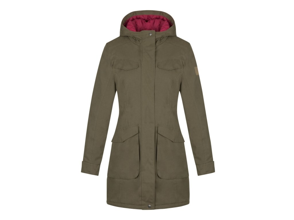 Dámský zimní kabát oap NADETTA P34P khaki