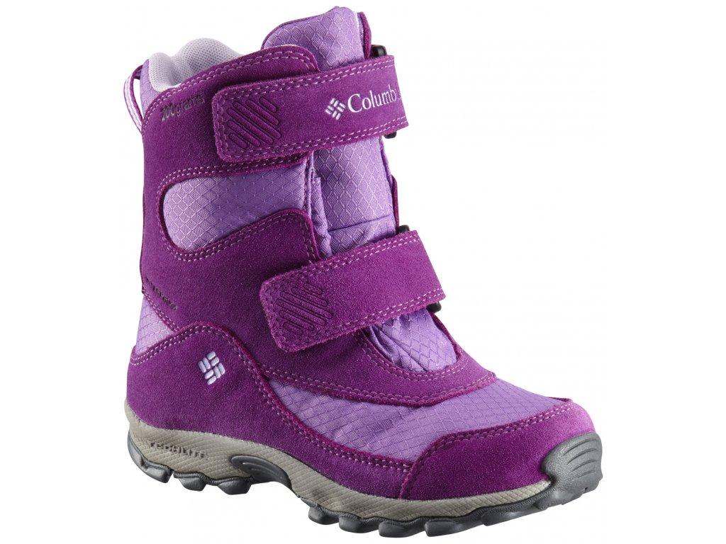 Dětské boty Columbia CHILDRENS PARKERS PEAK™ VELCRO BOOT 523 fialová