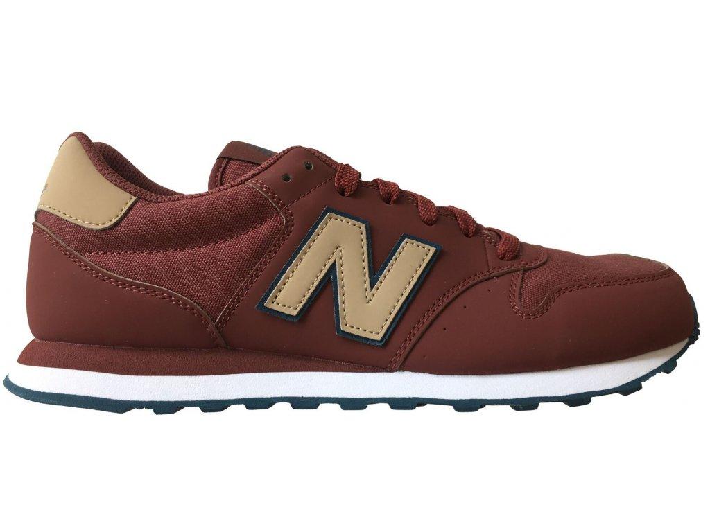 Pánská lifestylová obuv New Balance GM500 CRN červená
