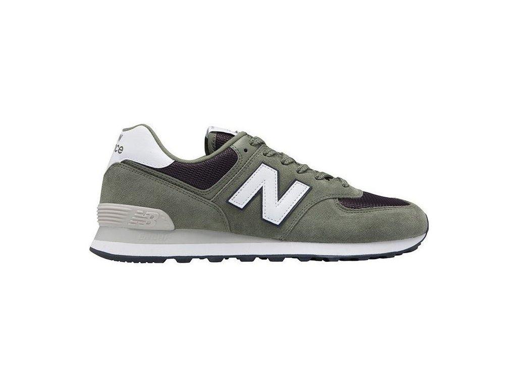 Pánská lifestylová obuv New Balance ML574 ESP zelená