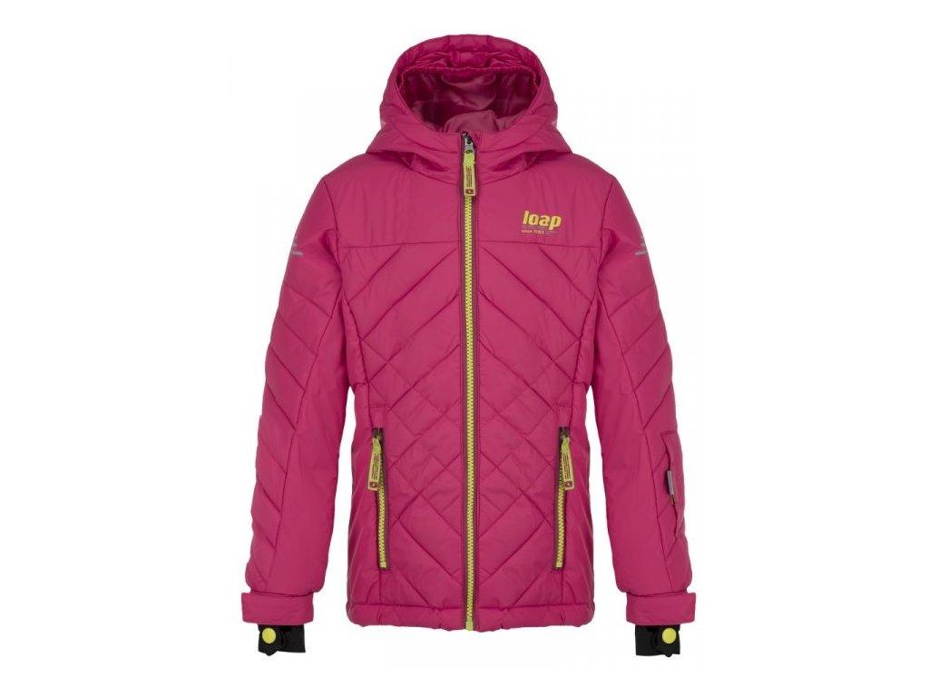 Dětská lyžařská bunda Loap FEBINA J68J růžová