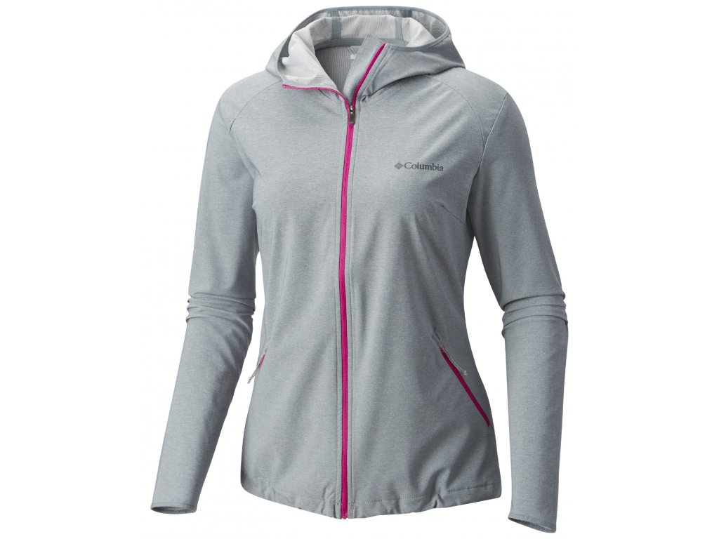 Dámská softshellová bunda Columbia Heather Canyon ™ Softshell Jacket 021 šedá