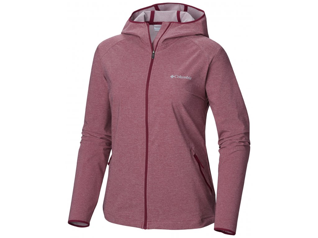 Dámská softshellová bunda Columbia Heather Canyon ™ Softshell Jacket 550 růžová