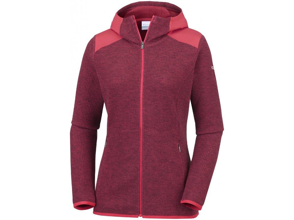Dámská mikina Columbia Coggin Peak™ FZ Hooded Fleece 633 červená