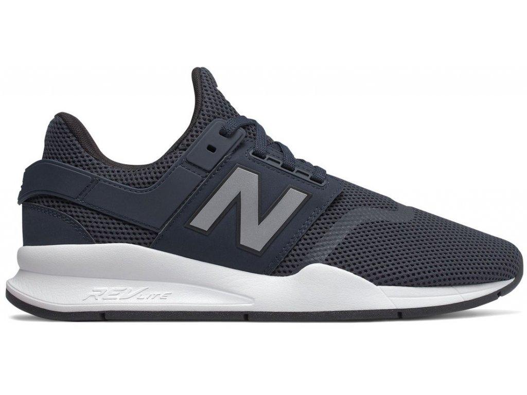 Pánská lifestylová obuv New Balance MS247 FD černá