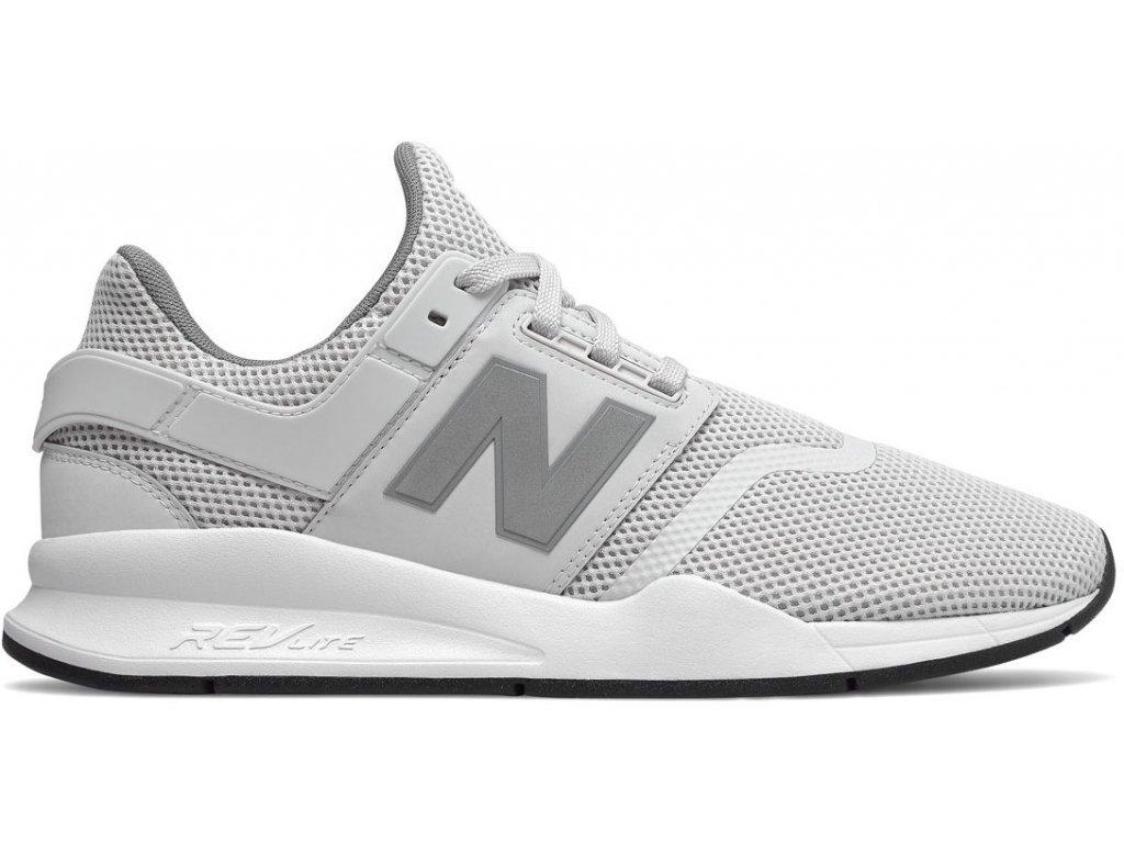 Pánská lifestylová obuv New Balance MS247 FE bílá