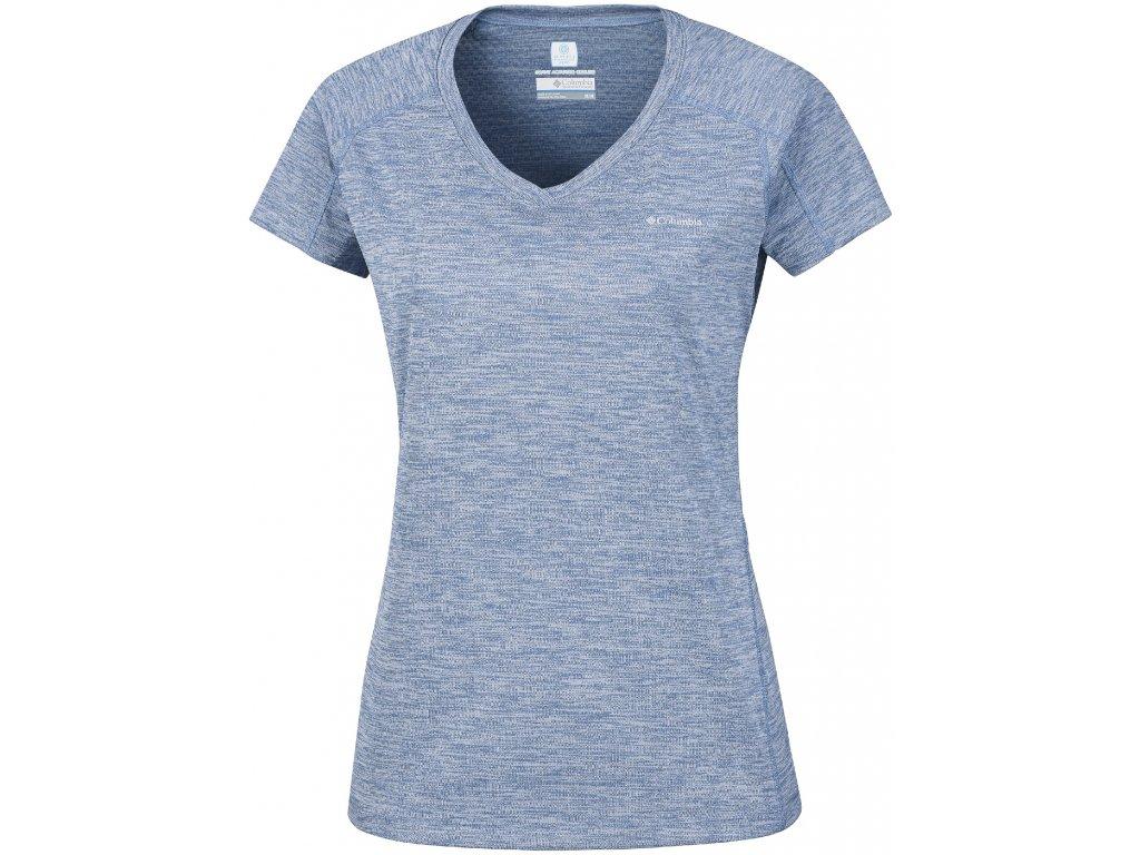 Dámské tričko Columbia Zero Rules™ Short Sleeve Shirt 456 modrá