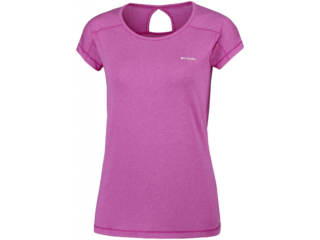Dámské funkční tričko Columbia Peak to Point ™ short sleeve hirt 627 fialová