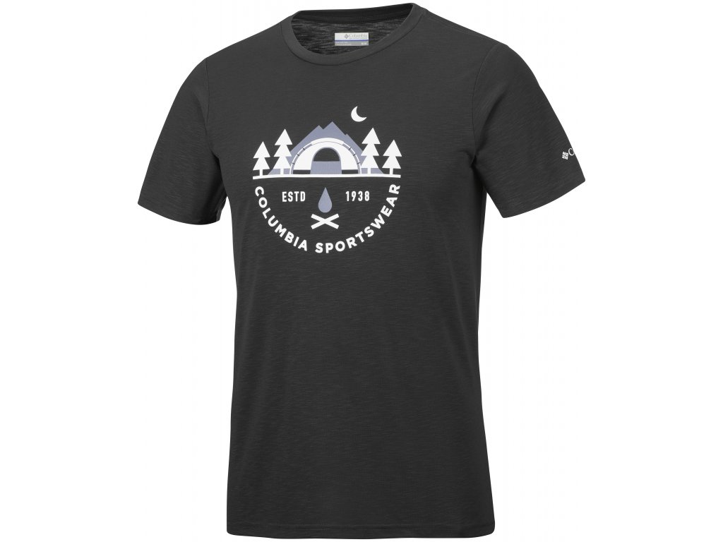 Pánské tričko Columbia Nelson Point™ Graphic Short Sleeve Tee 011 černá