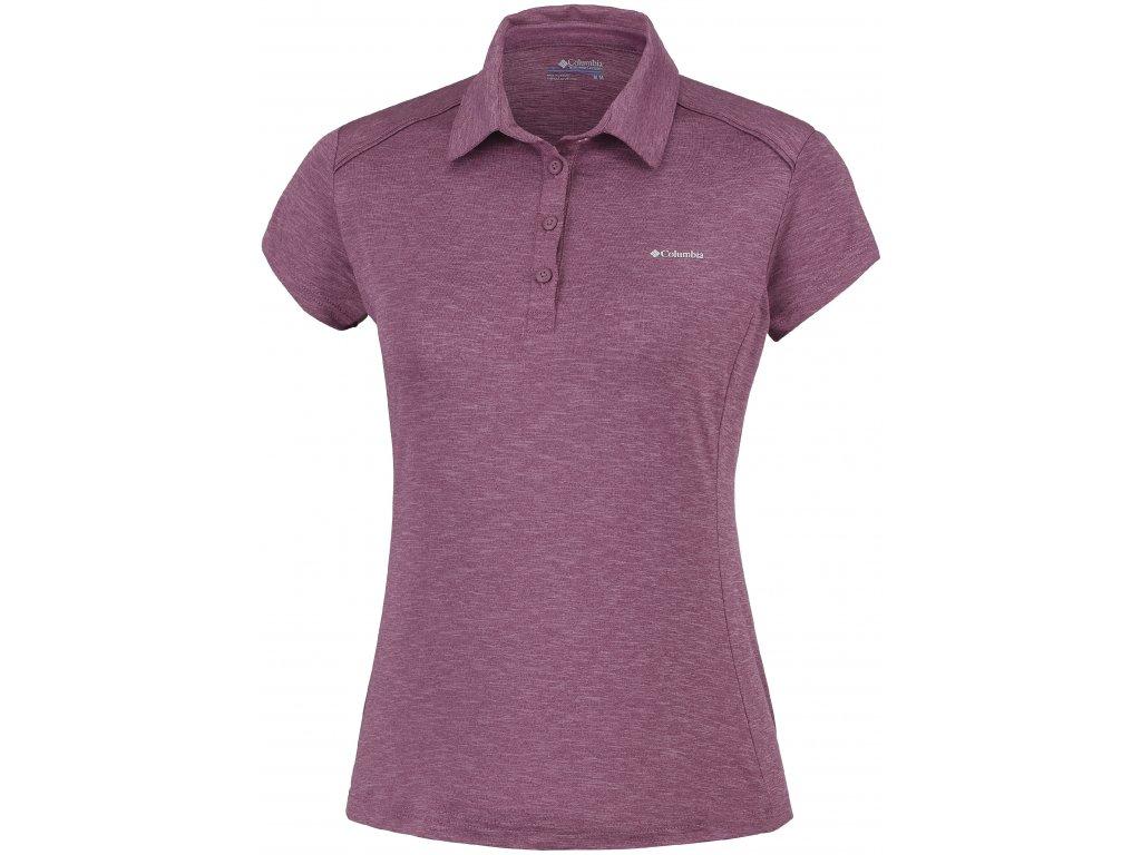 Dámské tričko Columbia Firwood Camp™ Polo 551 fialová