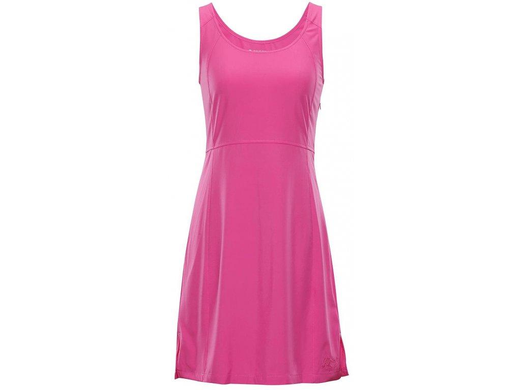 Dámské šaty Alpine Pro ELANDA 3 415 růžová