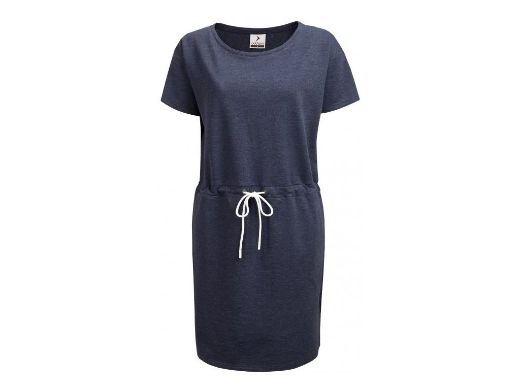 Dámské šaty Outhorn SUDD602 Denim mel. modrá