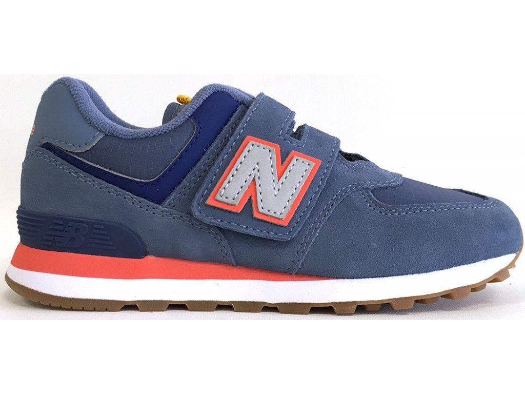 Dětská lifestylová obuv New Balance YV574 PAA modrá