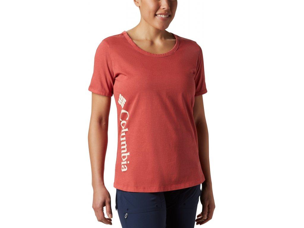 Dámské tričko Columbia CSC™ W Pigment Tee 602 červená
